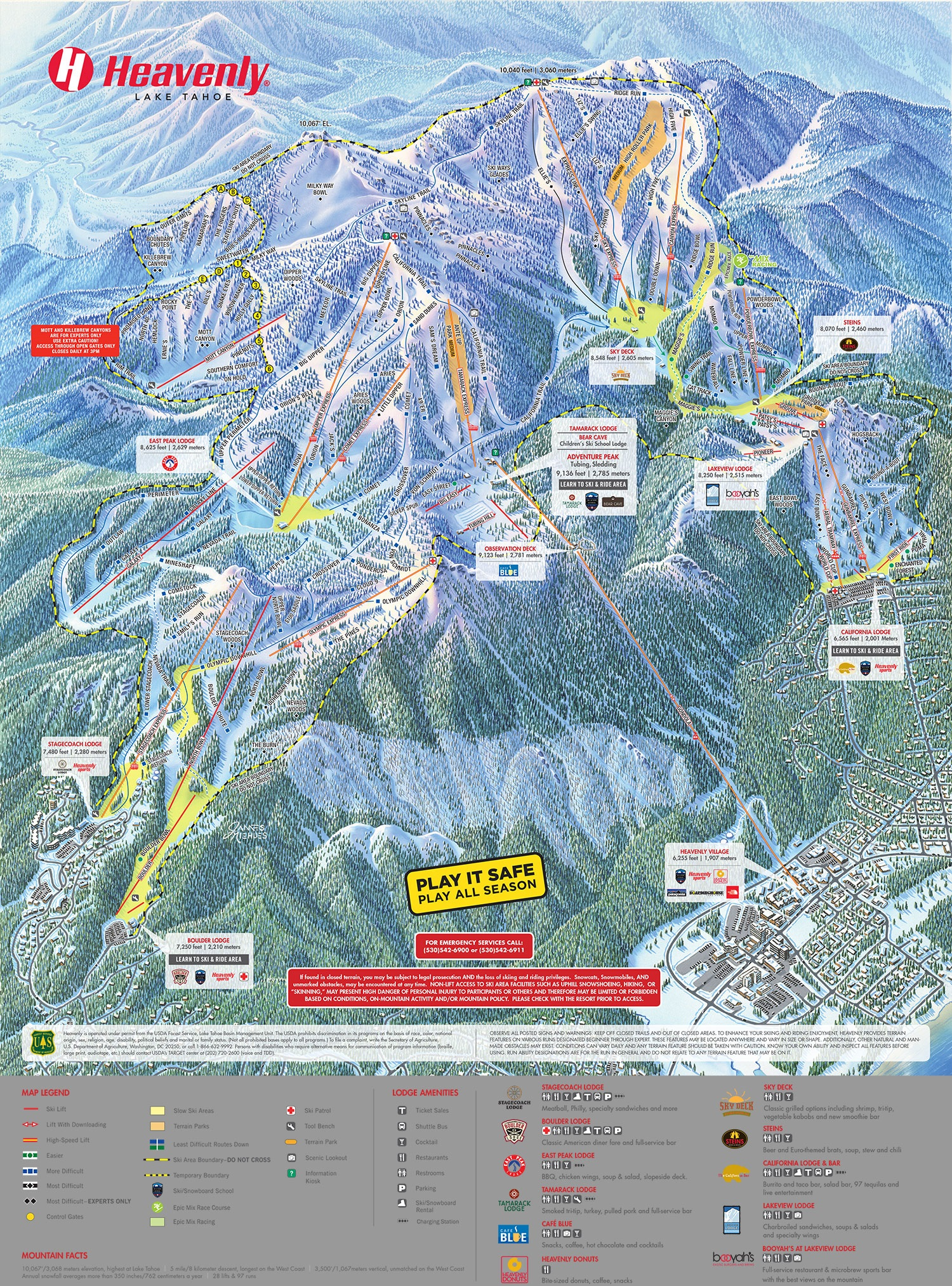 Trail Map Heavenly