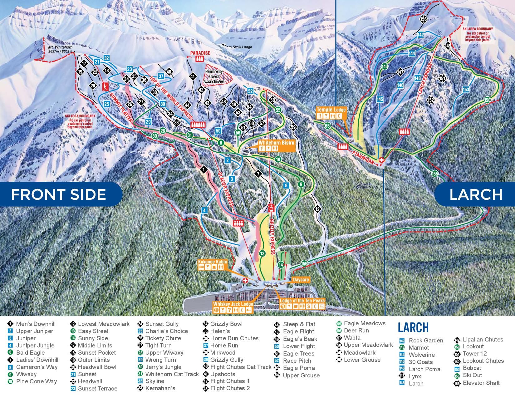 Trailmap Lake Louise Front Side /Larch