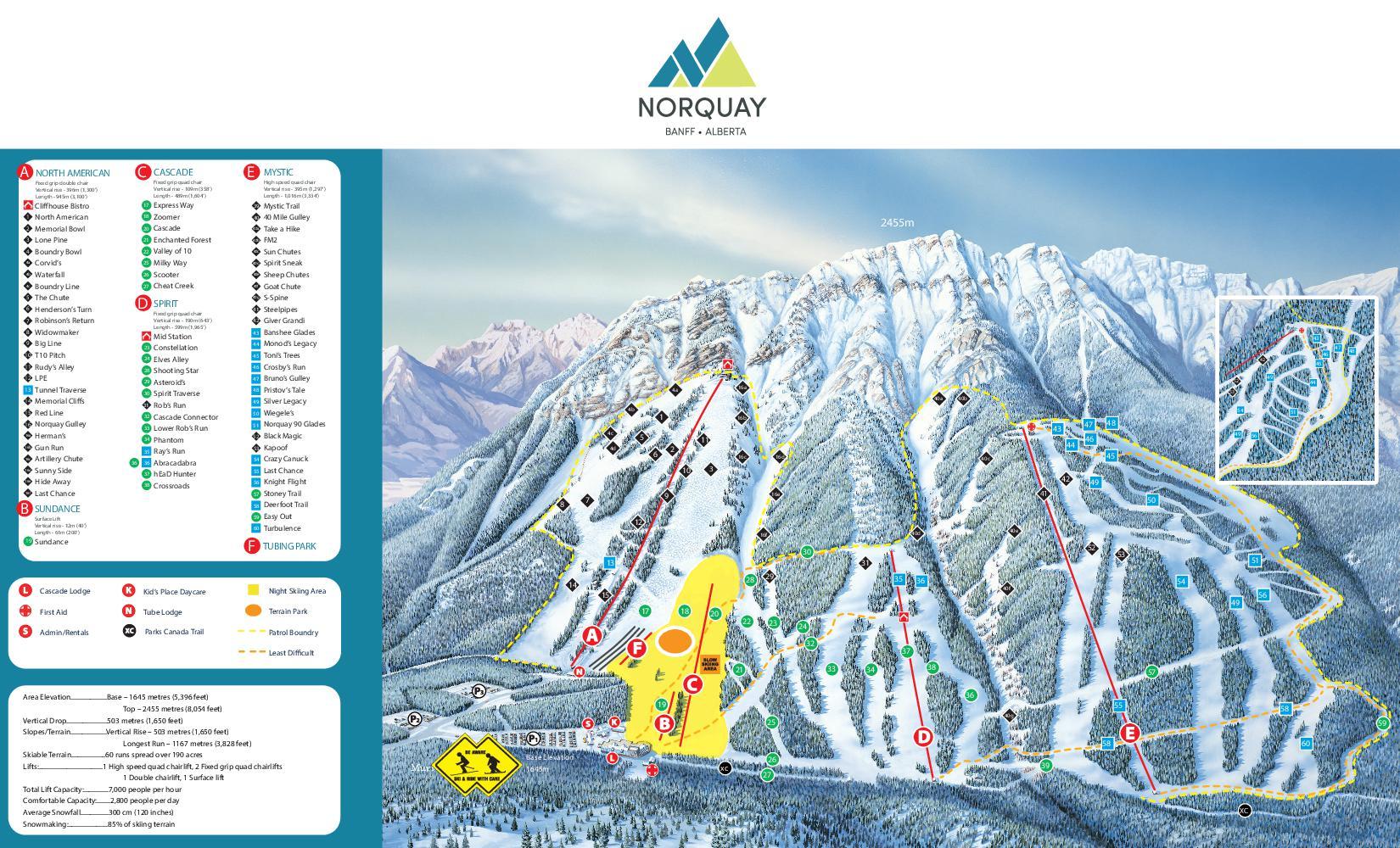 Trailmap Mount Norquay